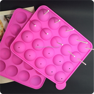 Silicone Pink Lolly Pop Party Cupcake Baking Mold 20 cavity Lollipop mold