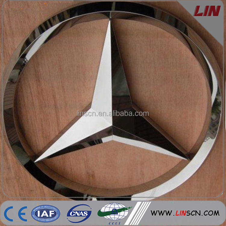 Outdoor advertising sign LED illuminated car brand signs for benz