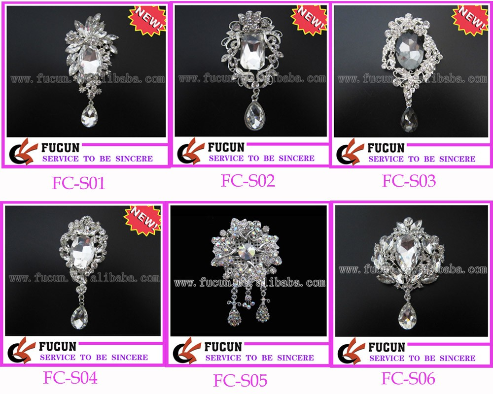 bride crystal wedding brooch