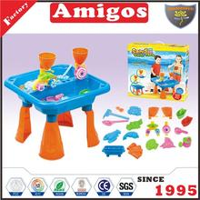 children Beach desk with accessories hot beach sand toy