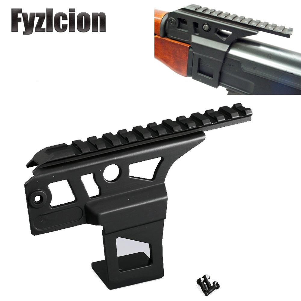 Hunting Tactical AK 47 AK 74 Standard Picatinny Weaver Rail Side Mount Front Top Scope Flashlight Laser Dot Sight Mount