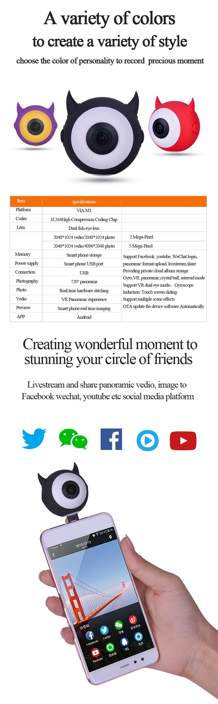 Kemera Live Streaming Camera360 Online 360 Vr Panoramic Camera - Buy  Camera360 Online,360 Live Streaming Camera,Camera 360 New Product on  Alibaba com