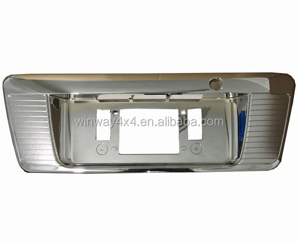 Hiace chrome accessories License Plate Cover for Hiace 200 2005 onwards