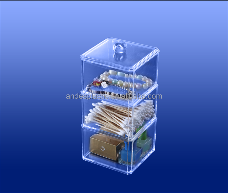 Custom Made Eco-Friendly Cheap Home Clear Acrylic Cosmetic Organizer/Nail Polish Display