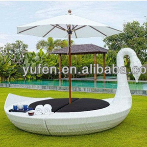 All weather rattan patio outdoor round daybed