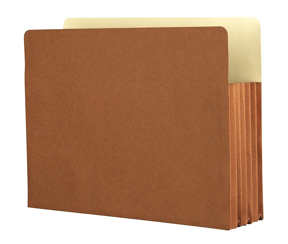 """Star EL-1534-50 Products Expanding File Folder Top Tab File Organizer, 5.25"""", Red (Pack of 50)"""