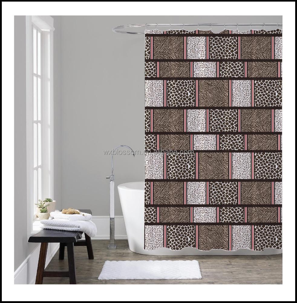 Lumineux couleur mode textiles impression de luxe rideau de douche rideau de douche id de - Rideau douche luxe ...