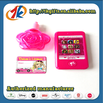 Promotional Smart Learning Plastic Phone Toy With Flower Shape Bottle