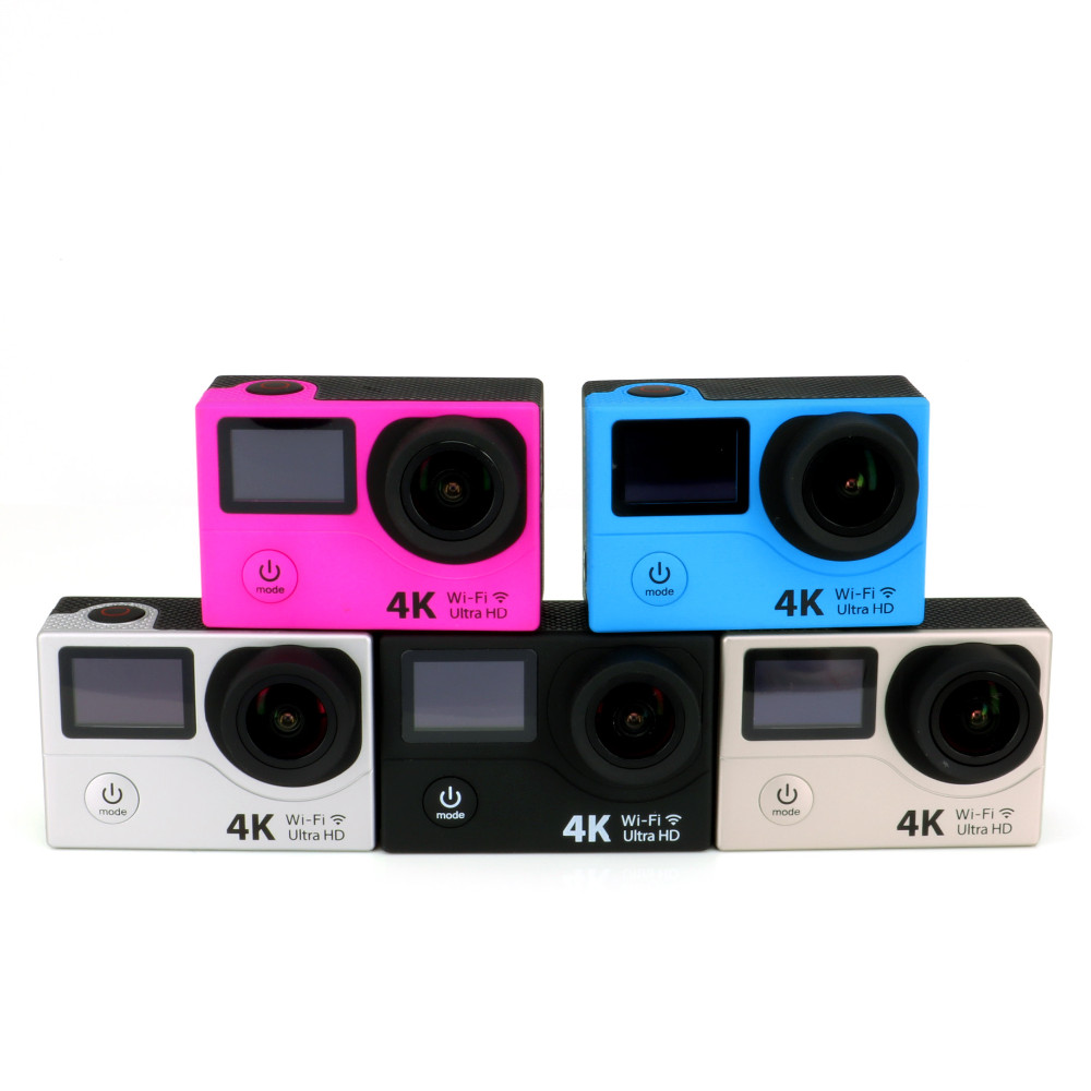 H3R Ultra 4K HD WIFI Action Cameras Dual Screen Waterproof Remote 2.4G Controller Ultra Slim +Wifi
