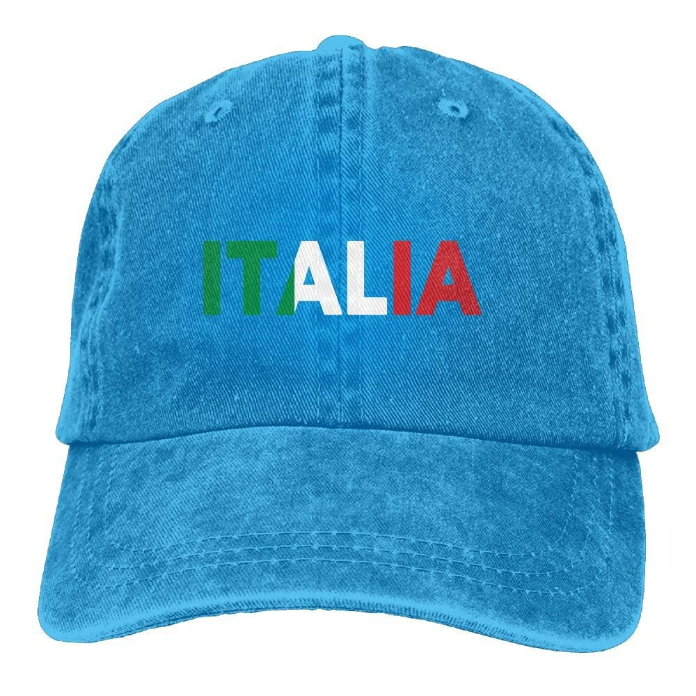 Get Quotations · Enpengd Italia Italy Italian Flag Lastest Men   Women  Adjustable Cowboy Cotton Baseball Hat Black 1a80a39b5