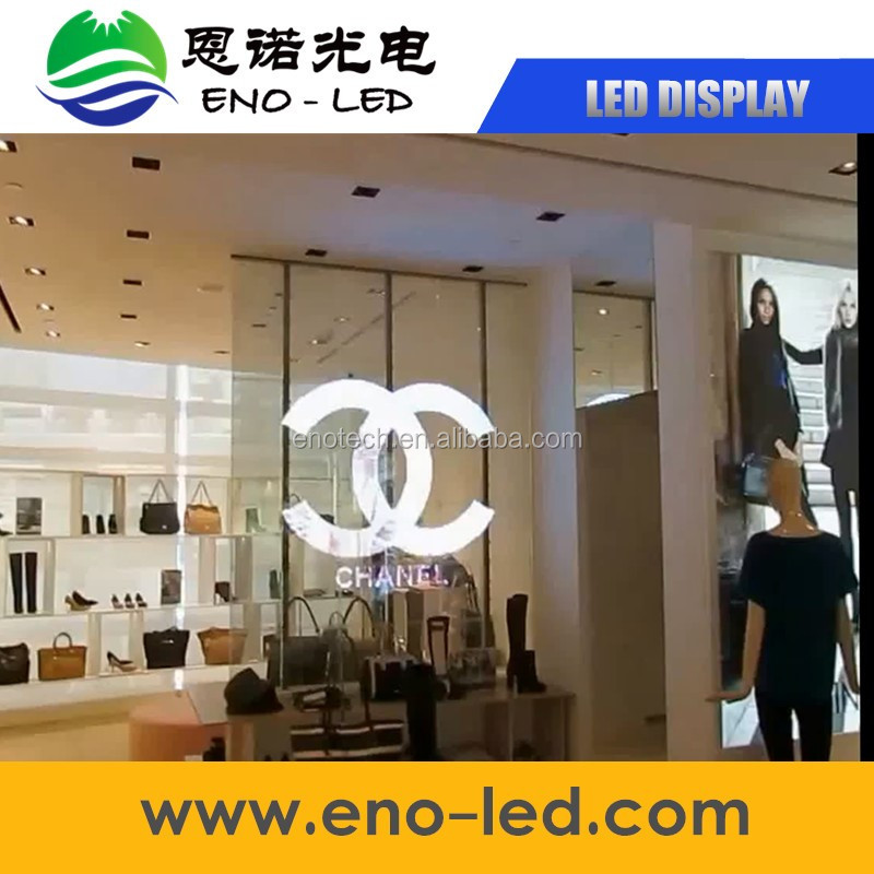 foldable led screen outdoor led display board window glass led show transparent display
