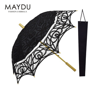 China MAYDU lace parasol double layer straight umbrellas summer umbrellas