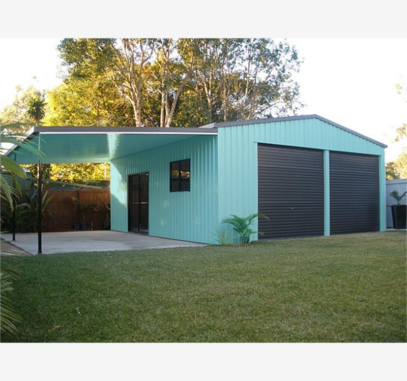 steel designed prefabricated flat track container tool house