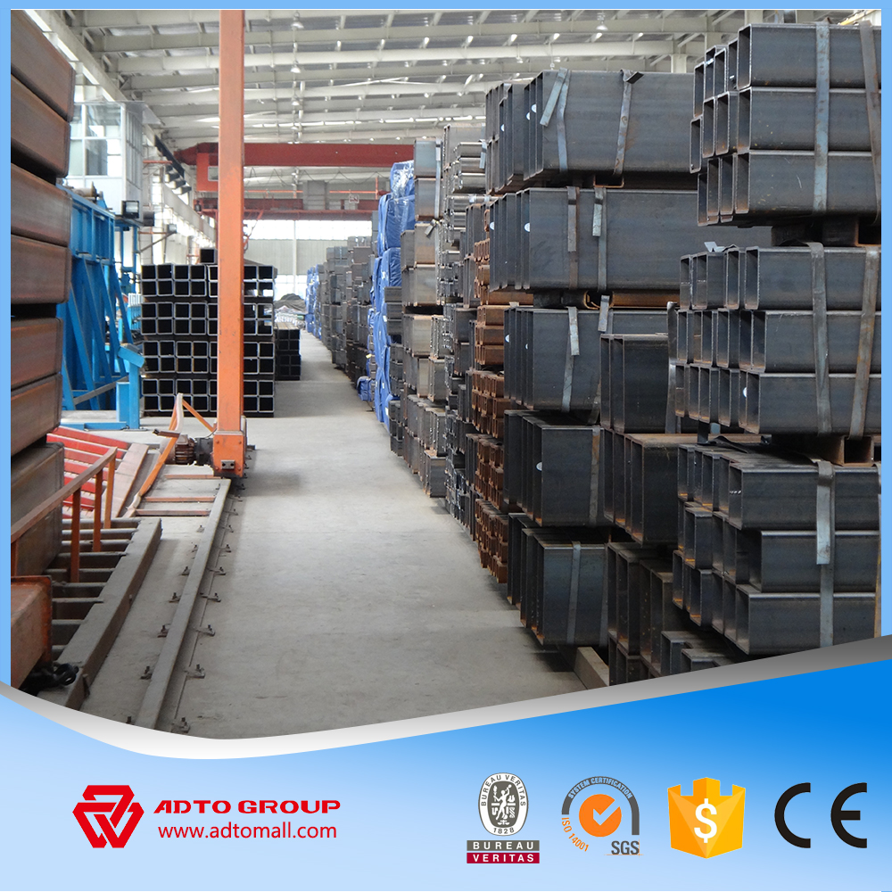 as1163 c350 welded steel square tube 100*100 with holes