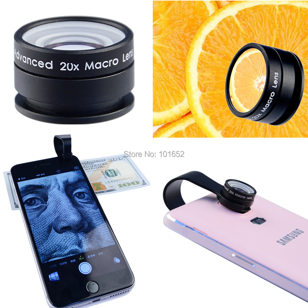 sports shoes 610d7 305e1 Clip 20X Macro lens Mobile Phone Camera Lens for iPhone 6 6plus 5S 4S for  Samsung Galaxy S3 Professional Super Macro 20X lenses