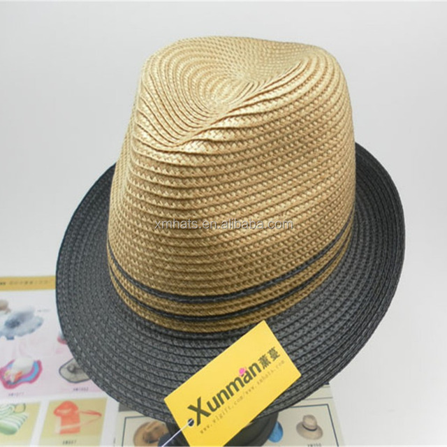 f67ce93580d OEM party hat adult cheap PP paper straw fedora hat