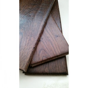 Free Samples UV lacquered Dark Color Oak Solid Wood Flooring
