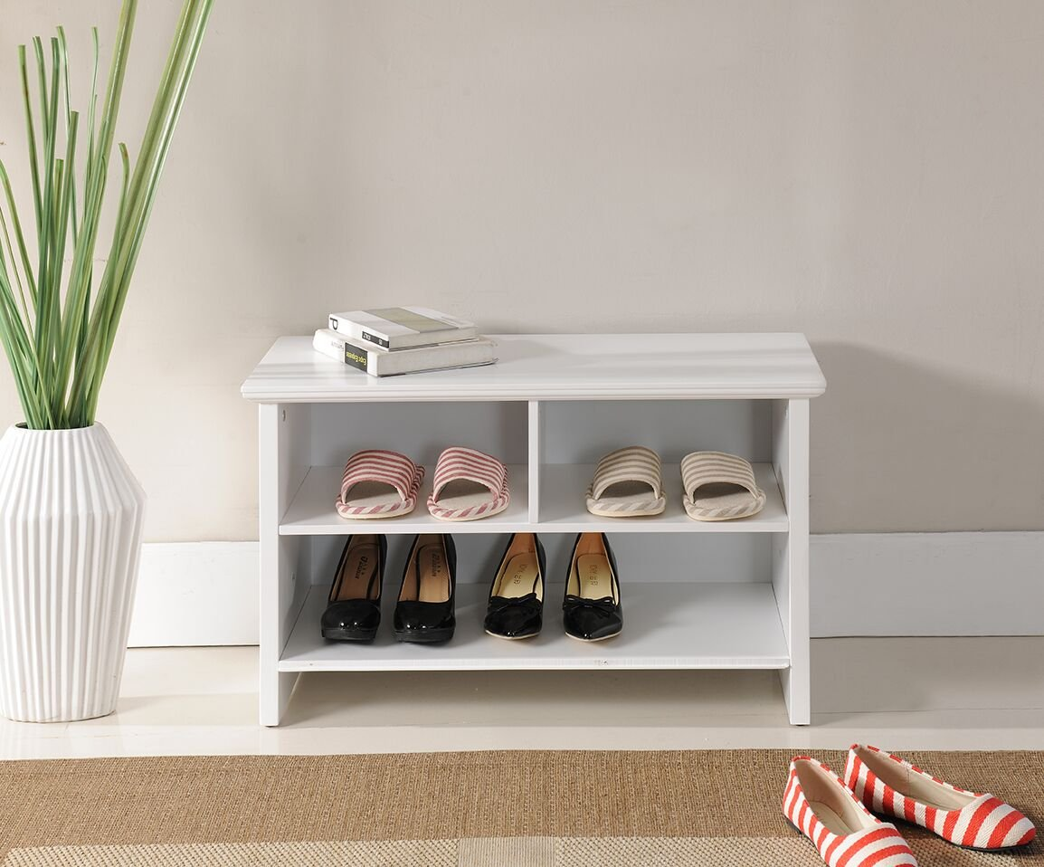 Get Quotations Kings Brand Furniture Wood Shoe Storage Cubby Bench White