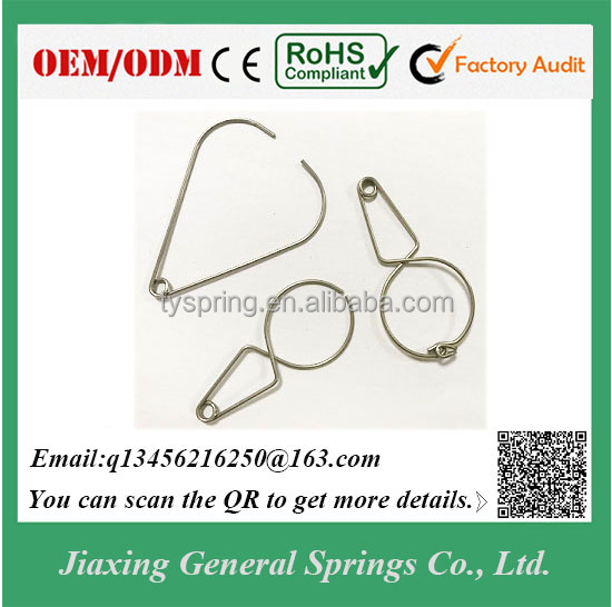 .047'' Spring Steel Wire Small Metal Spring Clip