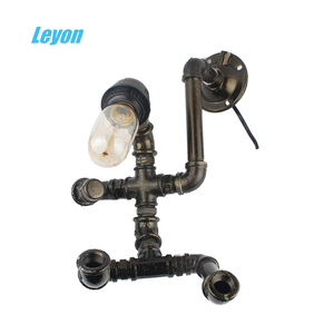 lamp diy wall mounted industrial pipe fitting socket mi nippple furniture bookshelf pipe fittings used epoxy painting