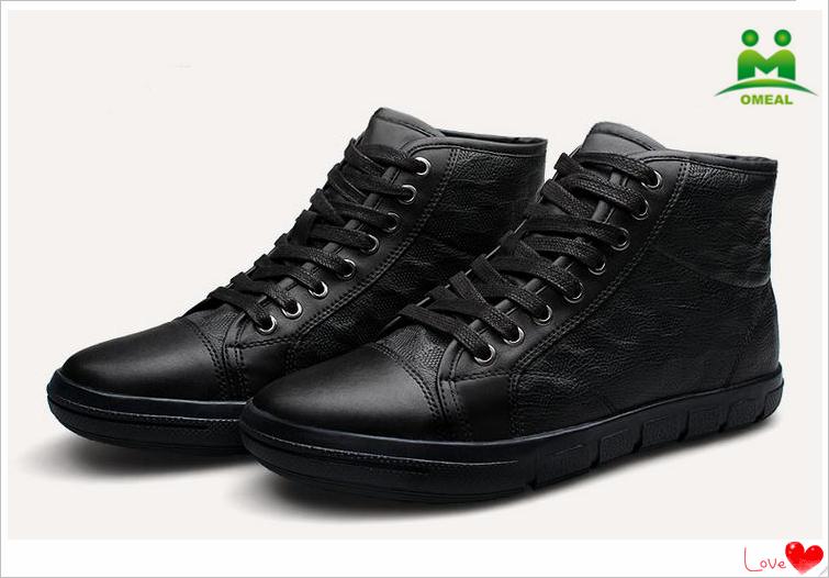 omeal usine vente directe noir baskets en peau de vache hommes grands chantiers chaussures. Black Bedroom Furniture Sets. Home Design Ideas