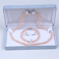 High quality fashion design necklace jewelry wedding pink pearl jewelry set