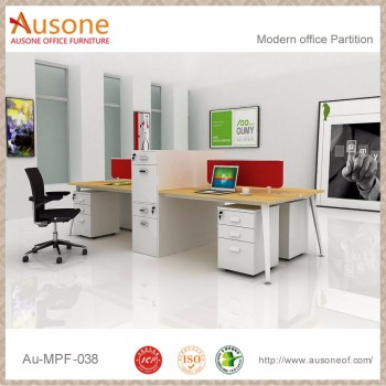 Modern Steel Frame Small Office Workstations Design With Cabinets