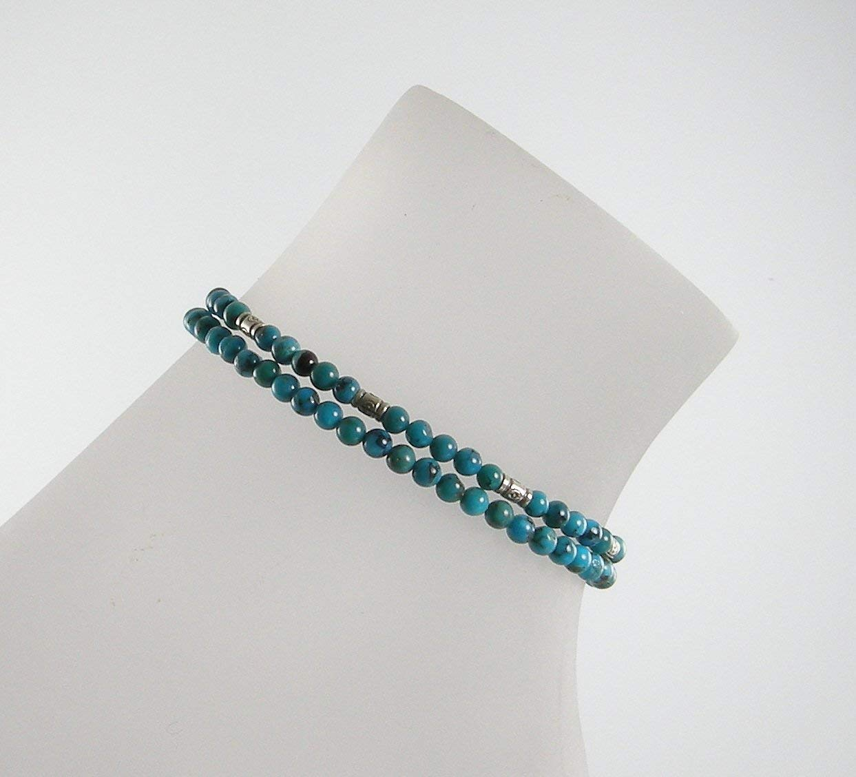 Turquoise Sterling Silver Anklet Set, Mix and Match Anklets, Turquoise Ankle Bracelet