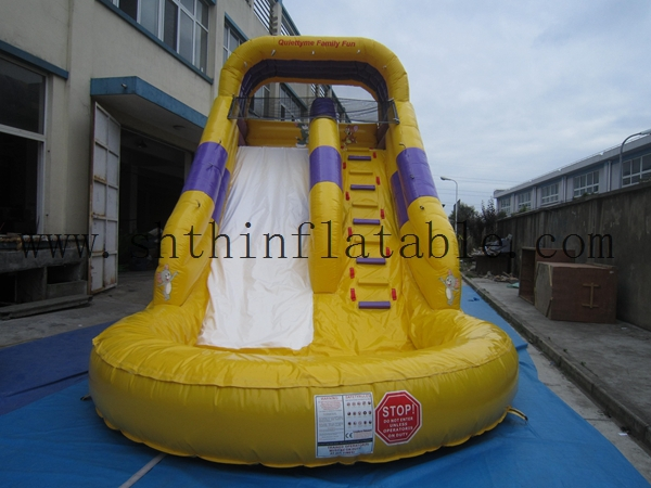 cheap new style inflatable slide/ inflatable with pool