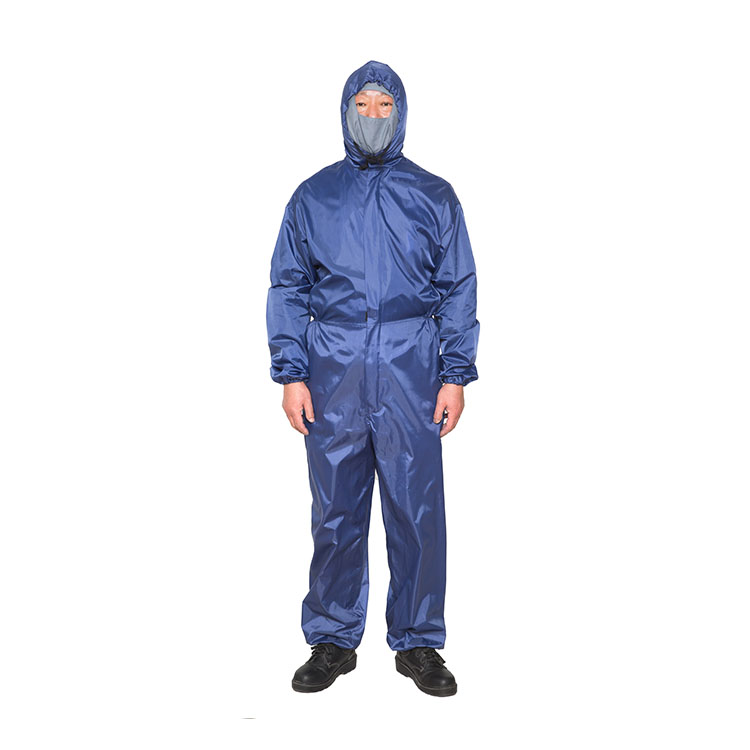 China supplier anti static fire retardant dust proof protection coverall suit
