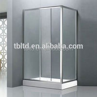 frameless sliding door glass screen shower room