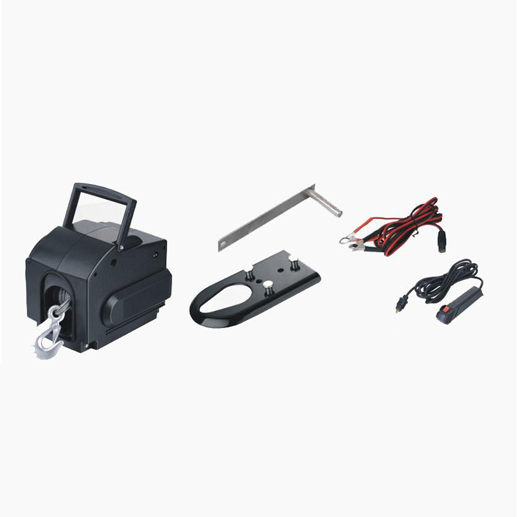 Portable 12v electric boat winch for pulling boats, stuck vehicles and other heavy items