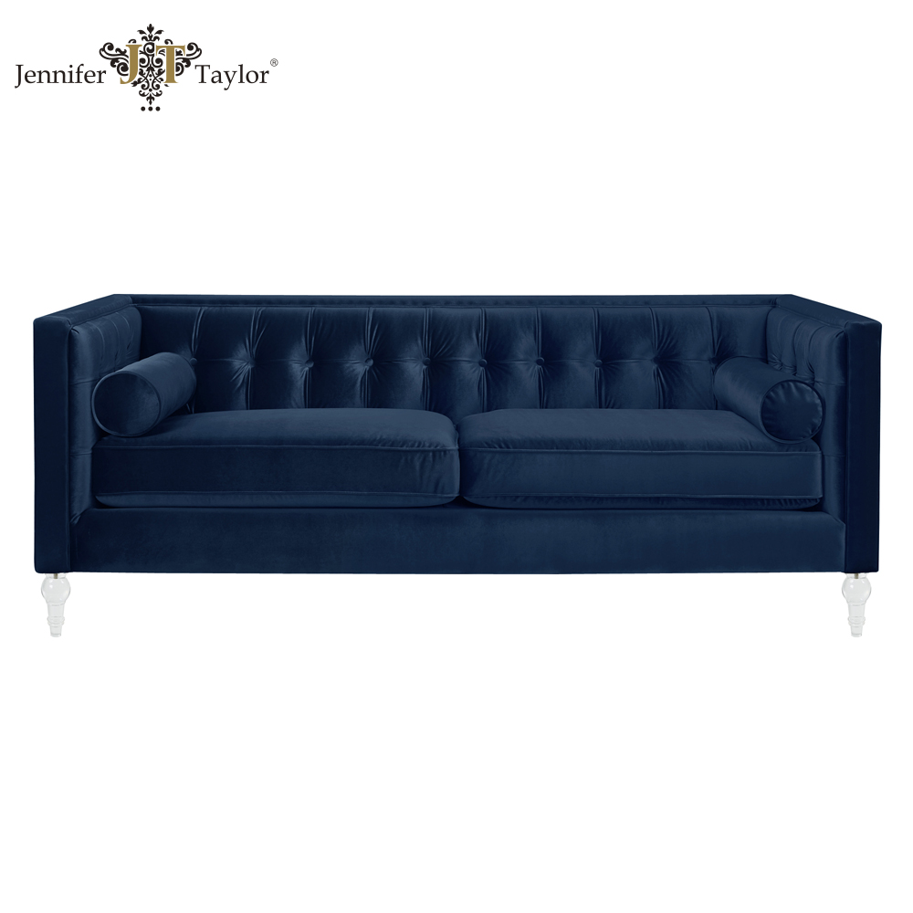 Fashionable hand tufted Navy blue Acrylic sofa sets American style 63010-3-859