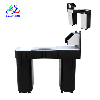 KANGZHIMEI black manicure table with dust collector N049