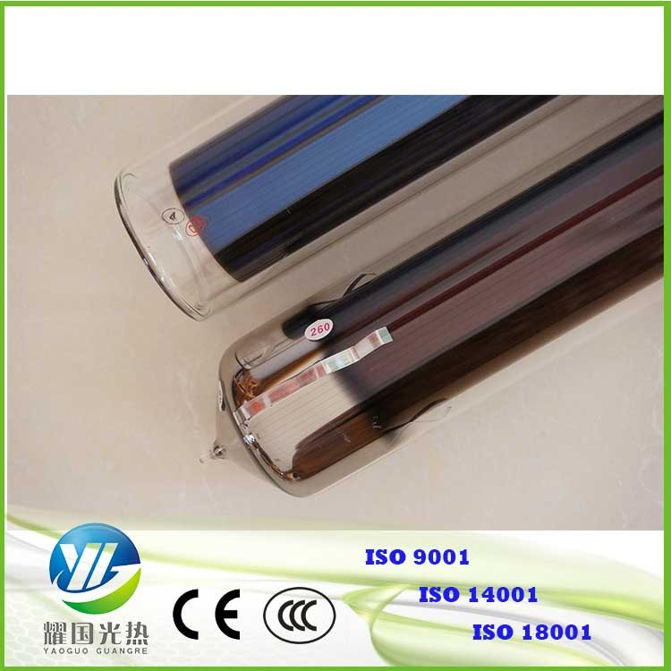 58*1800evacuated solar thermal tube with super heat transfer pipe