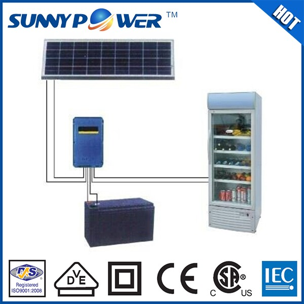 2016 Newest design 12v 24v DC outdoor solar refrigerator fridge