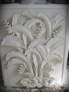 Relief Wall Carving With Heliconia Design Buy Bali