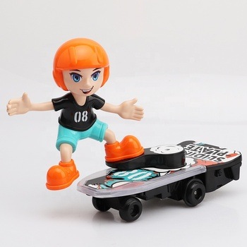 Hot Selling RC Electric Musical Skateboard Toy With Doll