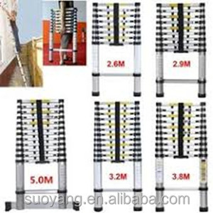 3.8M(15.5FT)/3.2M(12.5FT) EN131-6 GS SUPER LADDER FOR lidl telescopic ladder with heavy duty 150kgs