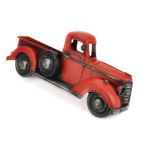Vintage Red Truck Model Retro Iron Wall Hangings For Home Decor Prop Handmade Bar Office Cafe Restaurant Decor