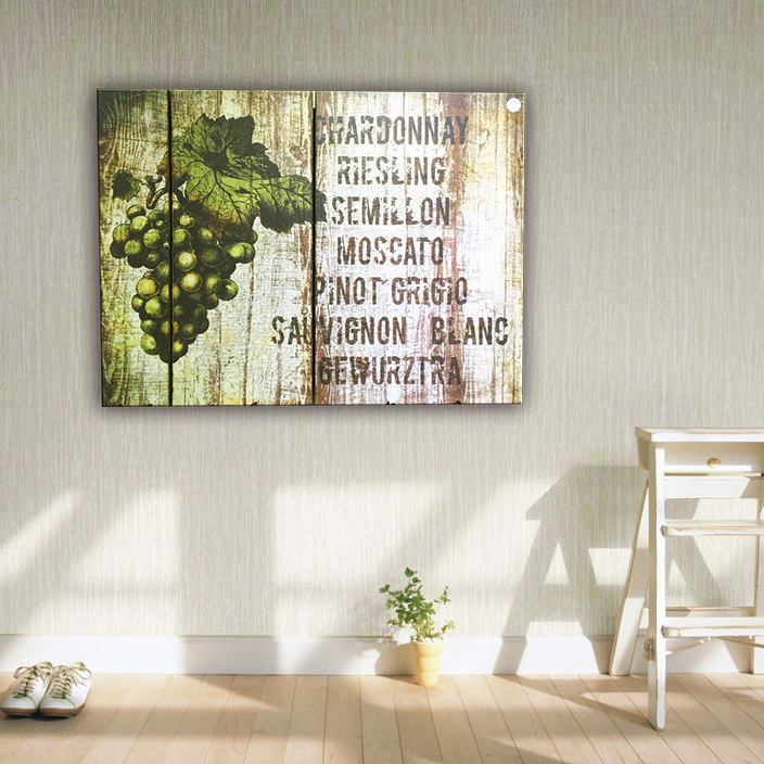2016 hot sale grape mdf decorative wall plaque art in cheap price