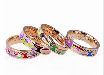 Cloisonne Enamel Ring Jewellery Branded Copy Design Jewelry