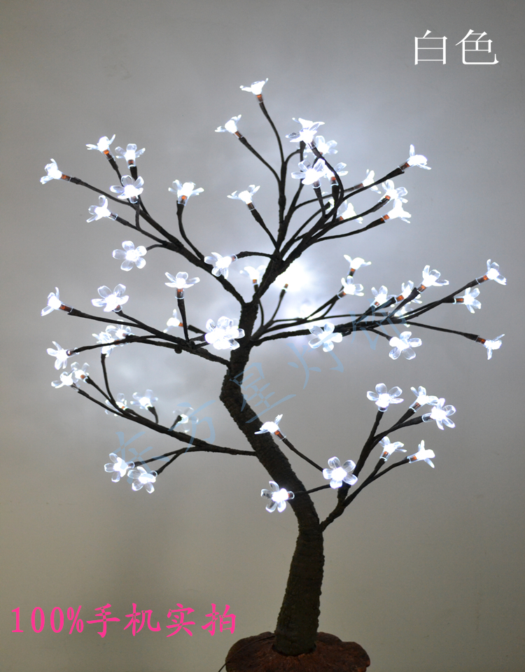 64 Led Cherry Blossom Tree Light In 70cm Height Holiday