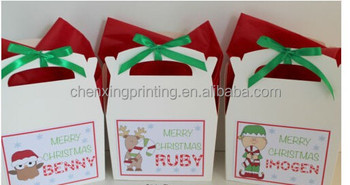 Personalised Childrens Christmas Eve Activity Paper Box Pack Gift Bag Favour With Small Note Book