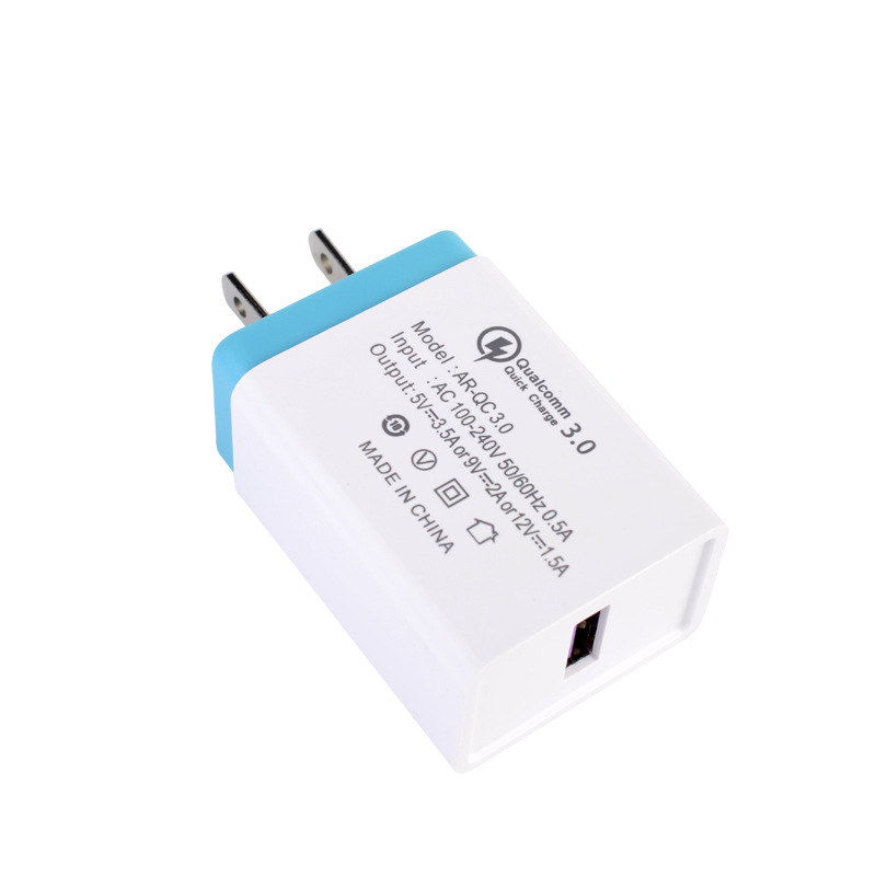 US Plug Single USB Port Cepat Pengisian Ponsel Charger Cepat 3.0 5 V 3A Dinding Charger Ponsel Adaptor