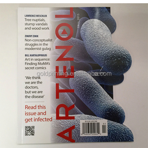printing cheap price custom shape glossy magazine