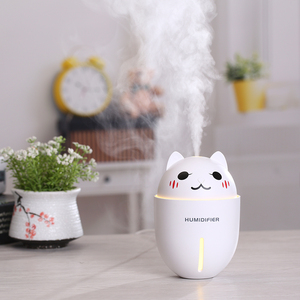 Cartoon Cat Usb Humidifier Multifunction Cool Mist Atomizer For Room Office Desk Travel