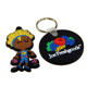2018 2D 3D soft cartoon rubber pvc keychain making
