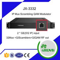 Jiexiang IP QAM Modulator 16/32/48MUX Scrambler