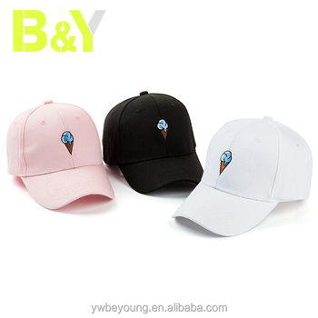 Wholesale Cute Ice Cream Embroidery Baseball Hats Snapback Sports Caps c47541f69c4